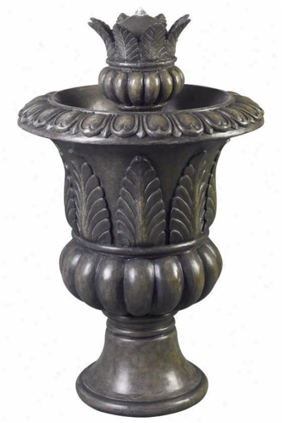 """tuscan Urn Indoor Outdoor Floor Fountain - 39""""hx23""""e, Bronze"""