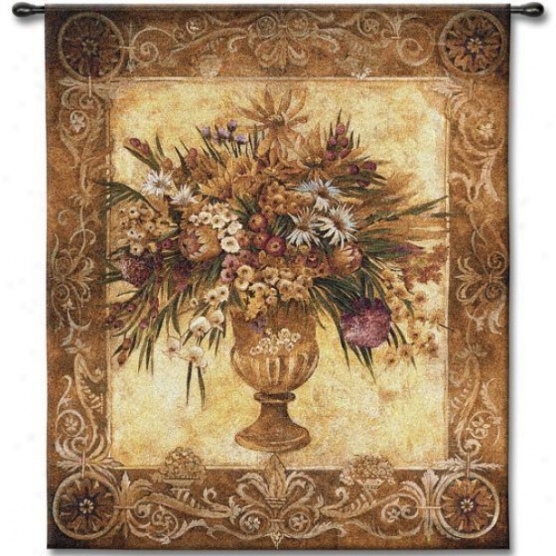 """""""tuscan Urn Tapestry - 53""""""""hx45""""""""w, Multi"""""""