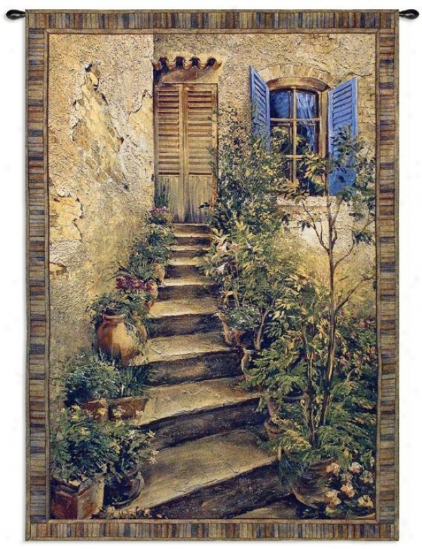 """tuscan Villa Ii Tapestry - 75""""hx53""""w, Multi"""