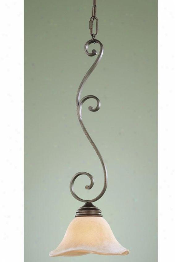 """""""tuscan Villa Mini Pendant  -26""""""""h X 9.5""""""""e, Bronze"""""""