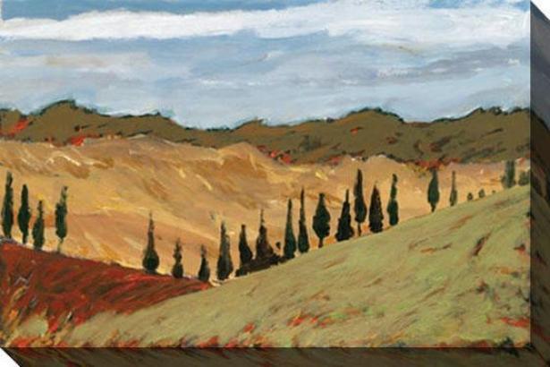 Tuscany I Canvas Wall Art - I, Green