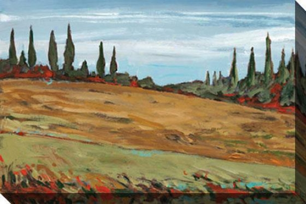 Tuscany Ii Canvas Wall Art - Ii, Green