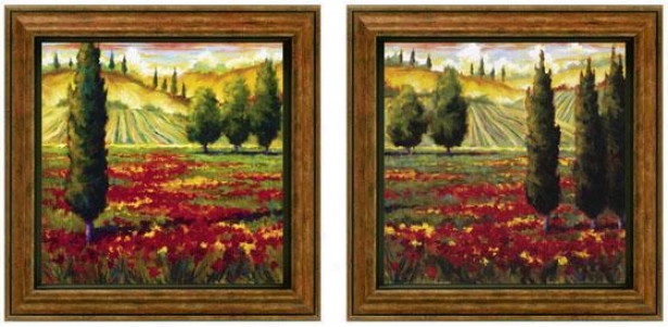 Tuscanu In Bloom Framed Wall Creation of beauty - Set Of 2 - Se Of Two, Green