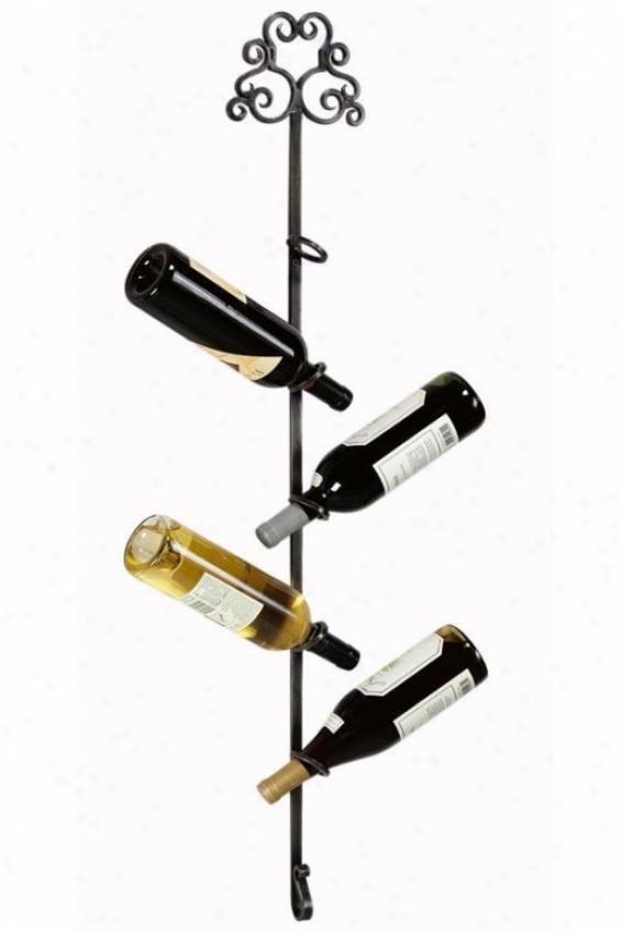 """""""tuscany Wine Rack - 40.25""""""""hx7""""""""w, Black"""""""
