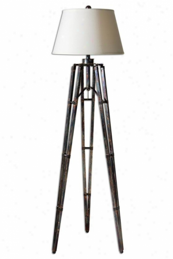 """tustin Floor Lamp - 68""""h X 20""""w, Bronze Finish"""