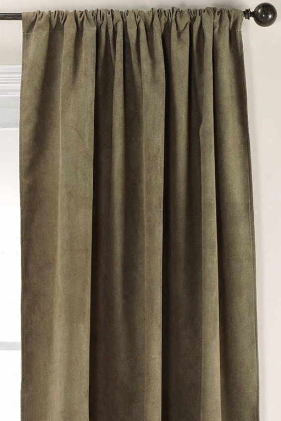 """twillo Olive Rod Pocket Drapery - Rod Pckt Drapry, 108""""hx54""""w"""