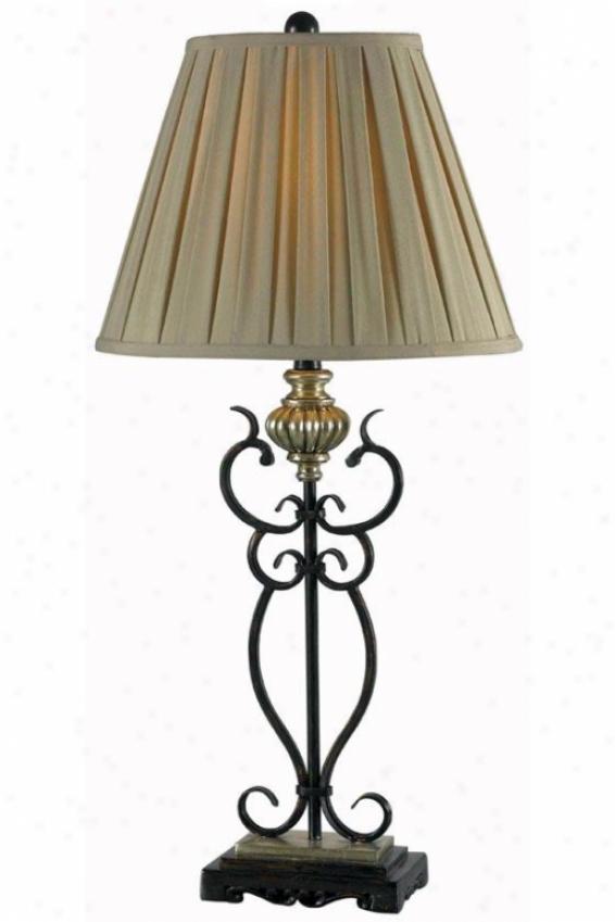"""twins Table Lamp - 34""""hx16""""w, Bronze"""