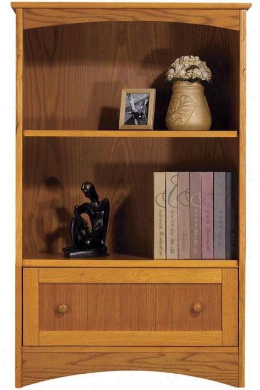 """""""two-shelf 2""""""""w Madison Bookcase With Drawer - 24w""""""""/2-shelf, Beige"""""""