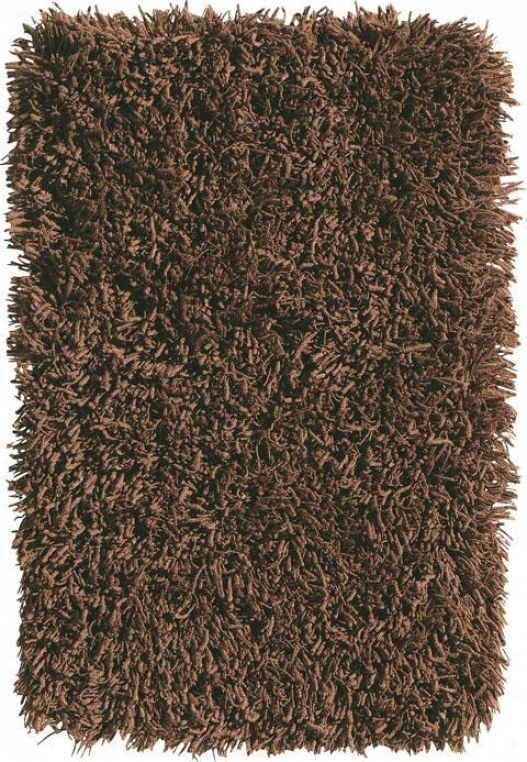 """ultimate Shag Rug - 1'8""""d2'8"""", Chocolate Brown"""