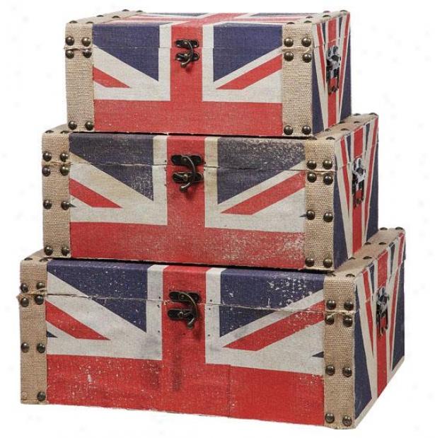"""""""union Junction Box - Set Of 3 - 22""""""""wx8""""""""x14""""""""d, Multi"""""""