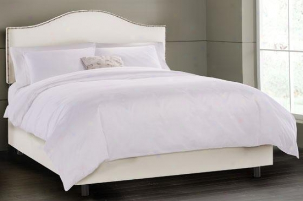 Upholstered Nail Button Headboard - Twin, Shantung Pearl