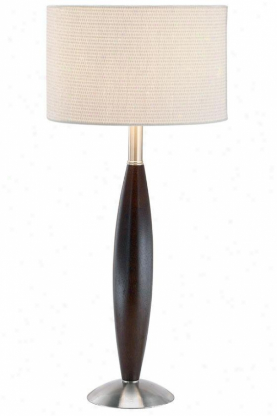 """urbane Table Lamp - 28.5""""h, Brown Wood"""