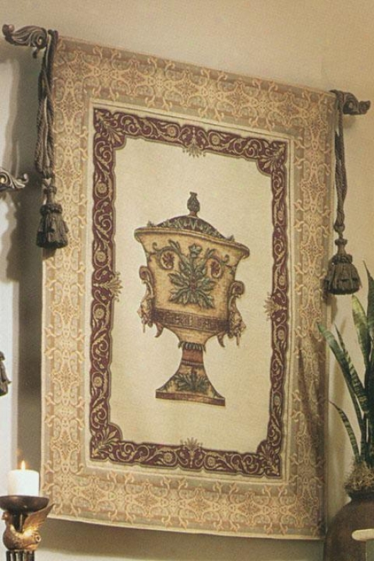 """""""urn And Lion Tapestry - 48""""""""hx37""""""""w, Multi"""""""