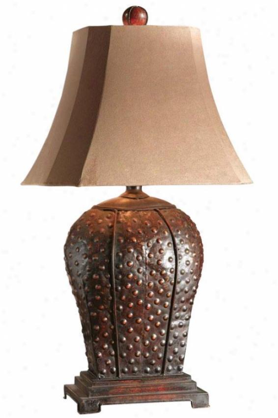 """valdemar Table Lamp - 34""""h, Maroon"""