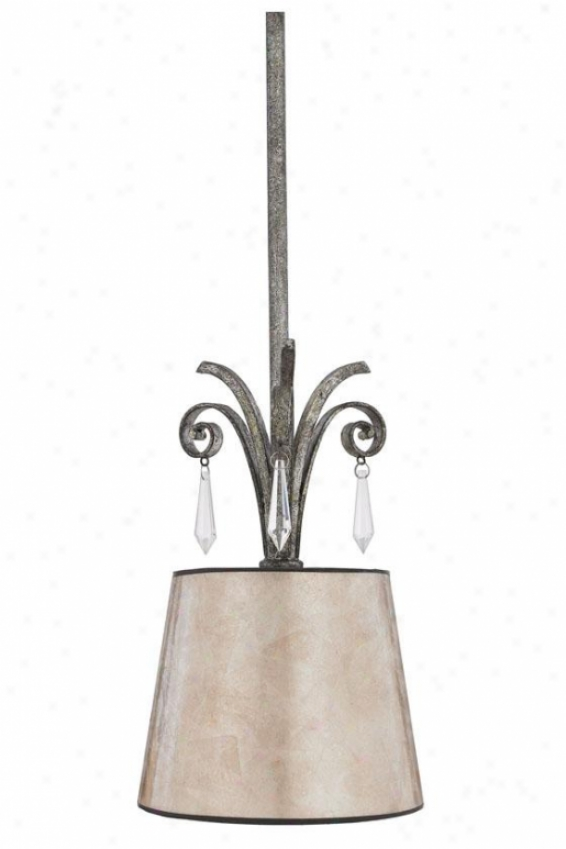 Vanessa Mini Pendant - 1-light/mini, Mottled Silver