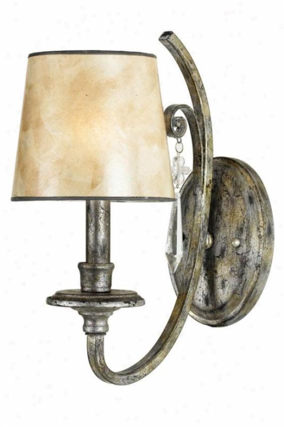 Vanessa Wall Sconce - 1-light, Mottled Silver