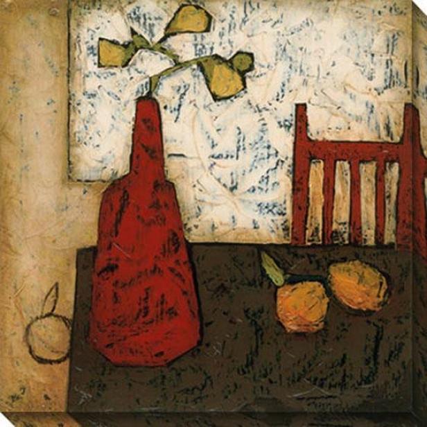 Vase Attending Fruit Iii Canvas Wall Art - iIi, White