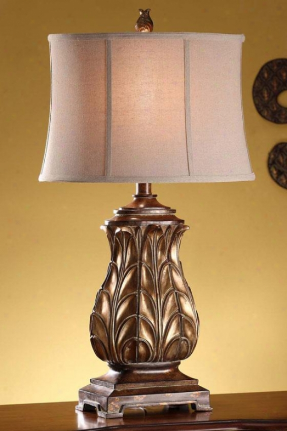 """vaughn Table Lamp - 33""""h, Gold"""