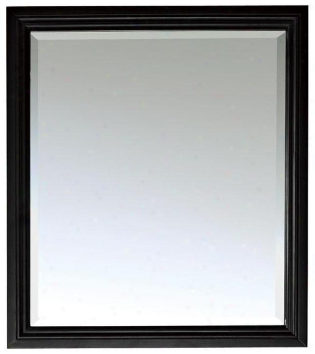 """venetia Mirror-  32""""hx28""""w, Black"""