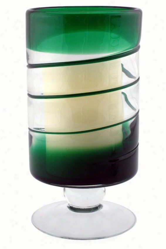 """venezia Flameless Candle - 10""""h X 5""""w, Green"""