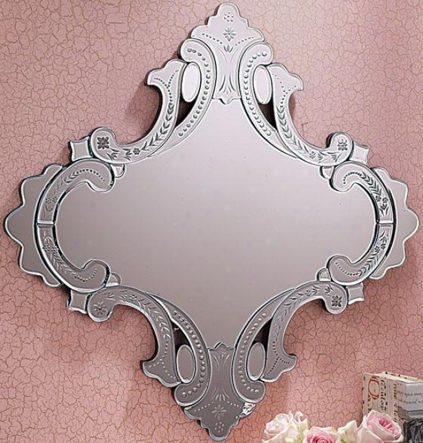 """venezia Wall Mirror - 26.75x26.75""""h, Silver"""