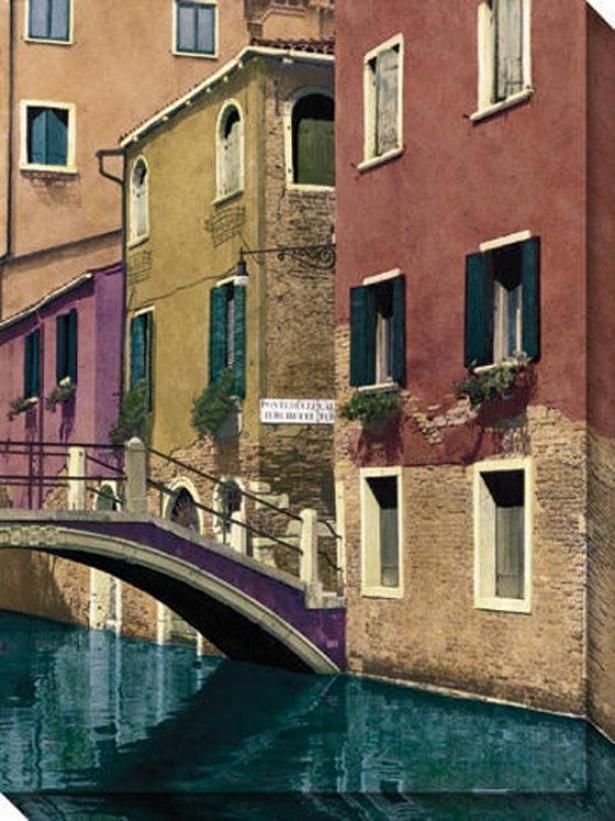 Venice I Canvas Wall Art - I, Beige