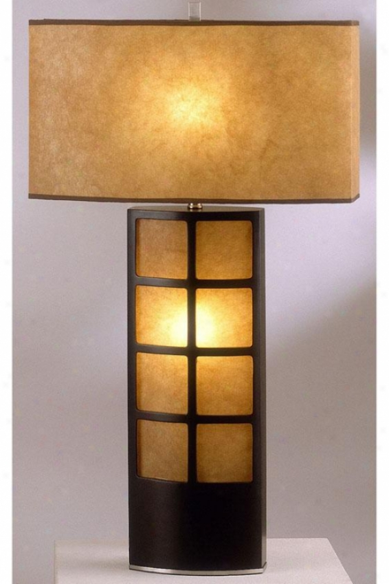 """ventaijlla Table Lamp - 31""""h, Brown"""