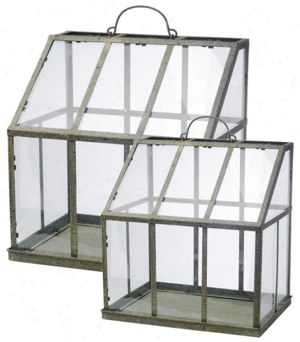 Vera Greenhouse - Set Of-2 - Set Of 2, Clear