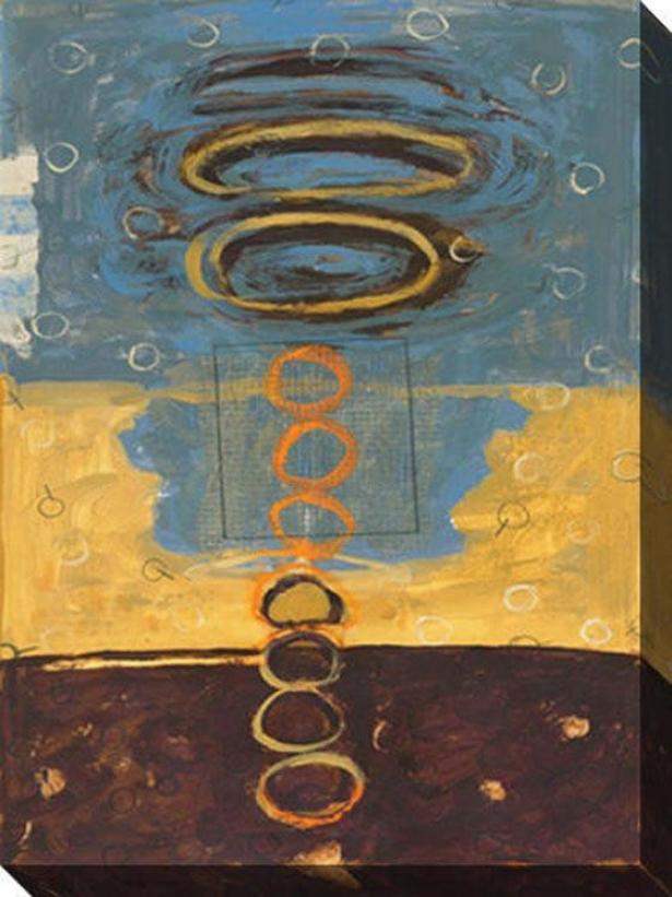 Verada Ii Canvas Wall Art - Ii, Yellow