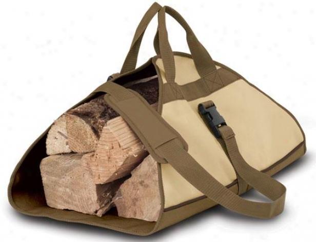 Veranda Log Carrier - One Siez, Pbbl/earth/bark
