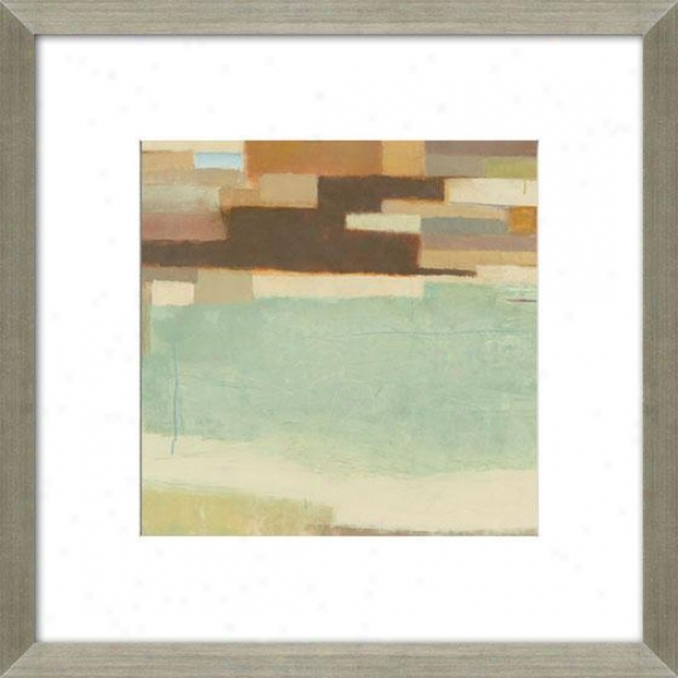Verdant Mesa Framed Wall Art - Ii, Matted Soft and clear