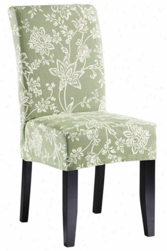 Verona Short Chair Slipcover - Shor, Sage