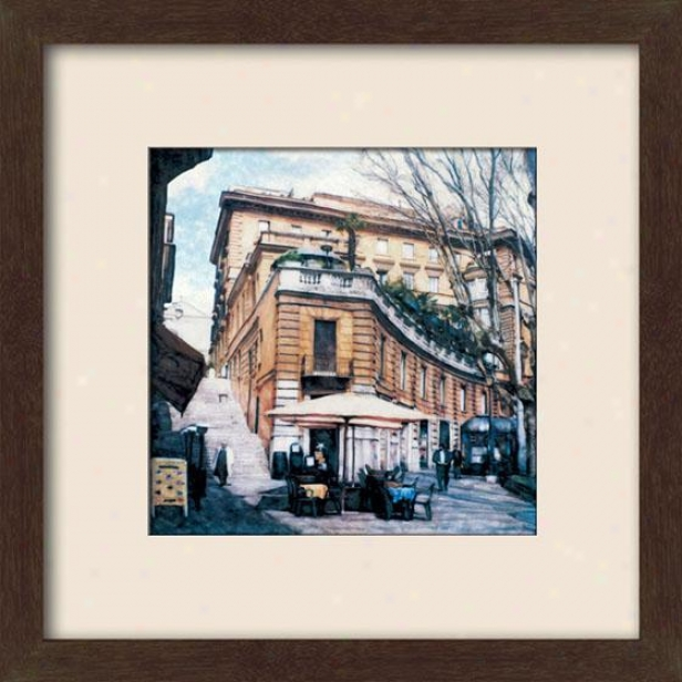 """via Venetto Framed Wall Art - 27""""hx27""""w, Matted Espresso"""