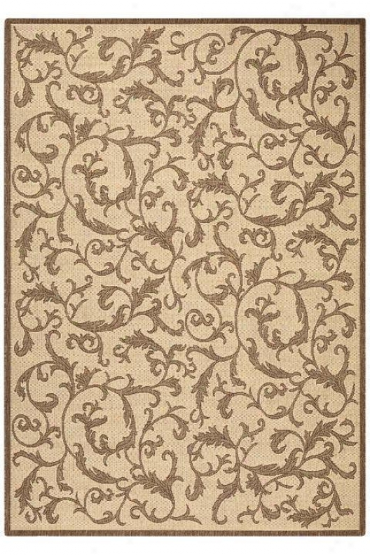 """vineyard All-weatber Area Rug - 4'x5'7"""", Brown"""