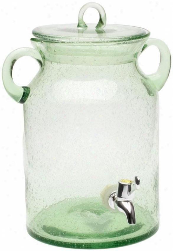 """""""vintage Beverage Jar - 10.25""""""""hx7""""""""d,G reen"""""""