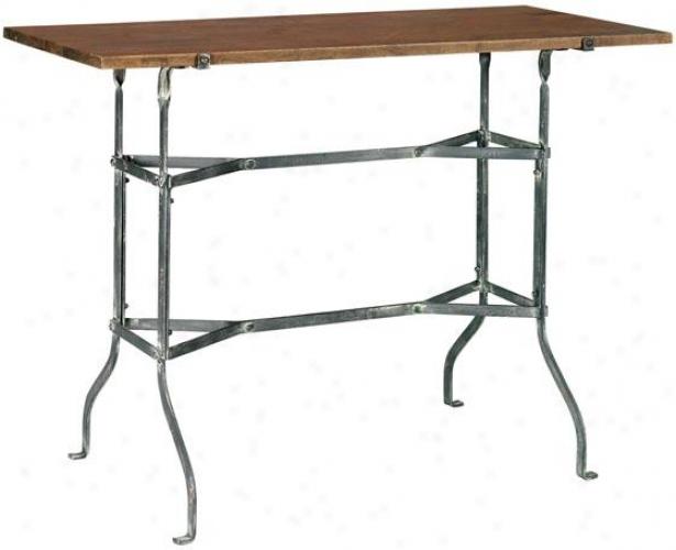 """vintage Park Sofa Console Table - 42""""x11"""", Grey/painted"""