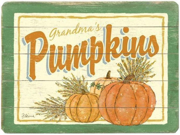 """""""vintage Seed Packet Wooden Sign - 20""""""""hx14""""""""w, Pumpkins"""""""