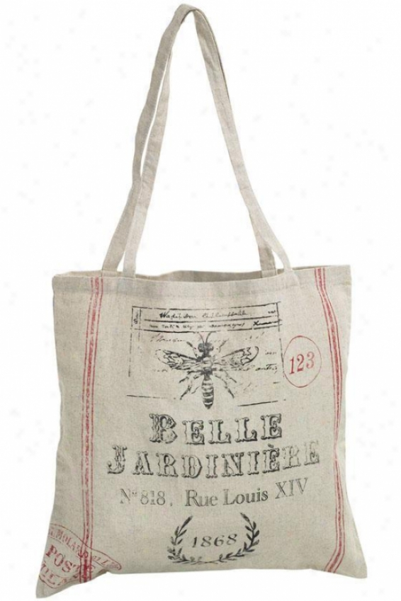 """vintage Tote-  27""""hx16.5""""w, Belle Jardinier"""