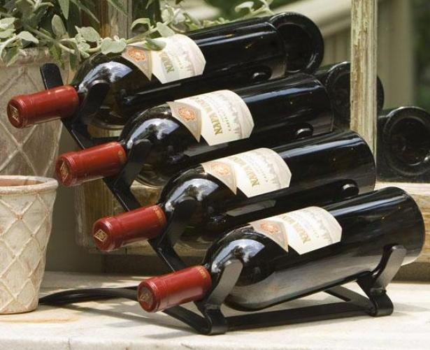 Vintage Wine Display - 5.25h X9.5w X23, Antiqued