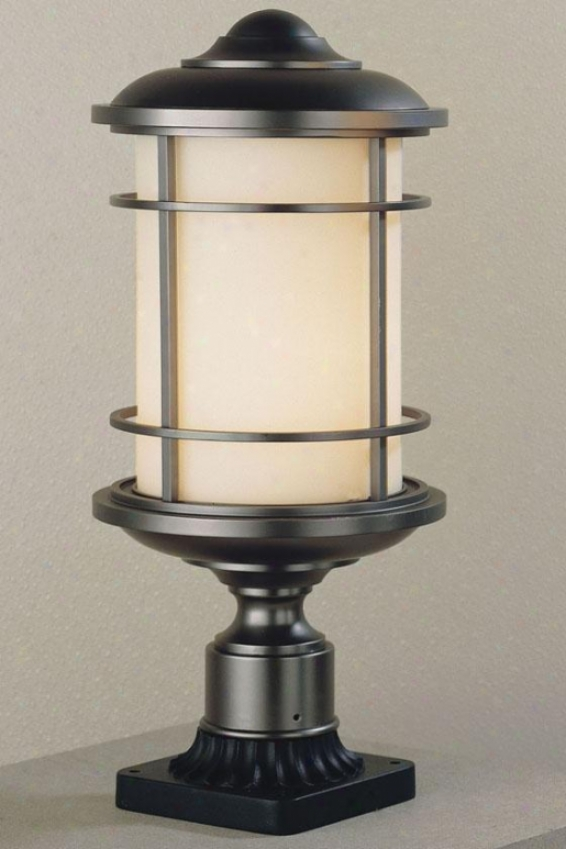 """virginia Outdoor Lamp Post - 18.25""""h X 9""""w, Bronze"""