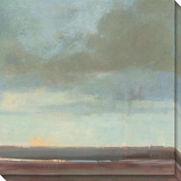 """""""viridian Sky Canvas Wall Art - 40""""""""hx40""""""""w, Green"""""""