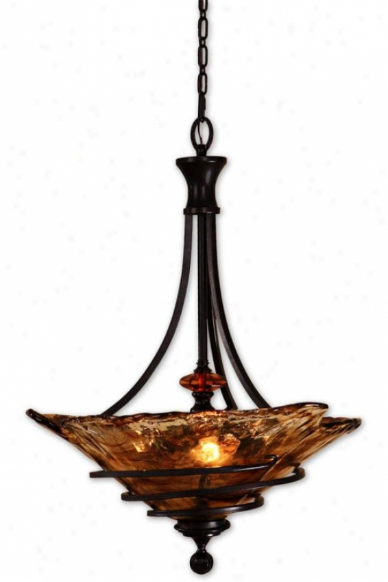 Vitalia Pendant - 3 Light, Copper Br0nze