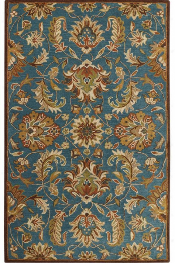 Vogue Rug I - 9'x12', Teal Blue