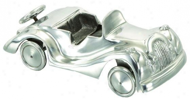"""vroom Vintage Car - 4""""hx11""""w, Silver"""