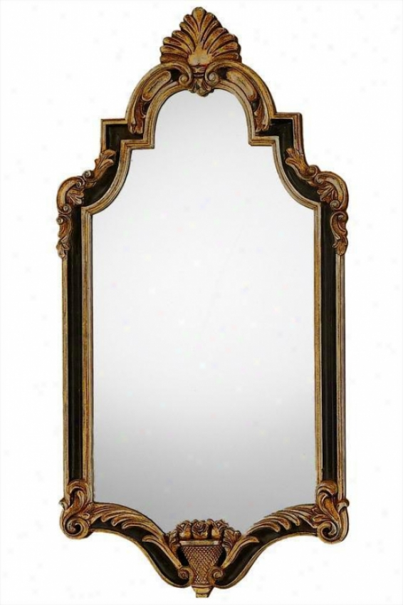 """walker Mirror - 40""""hx20""""w, Gold/silver"""