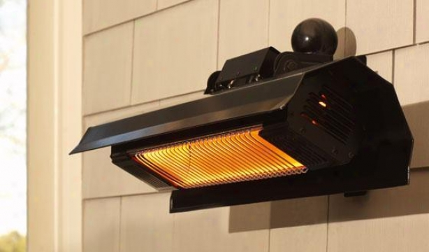 """""""wall-mounted Infrared Patio Heater - 7.5""""""""hx22""""""""wx4.5d, Black"""""""