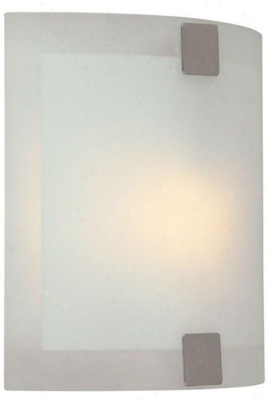 """wall Sconce I With Froosted Glass Shade - 7""""hx7""""w, Silver"""