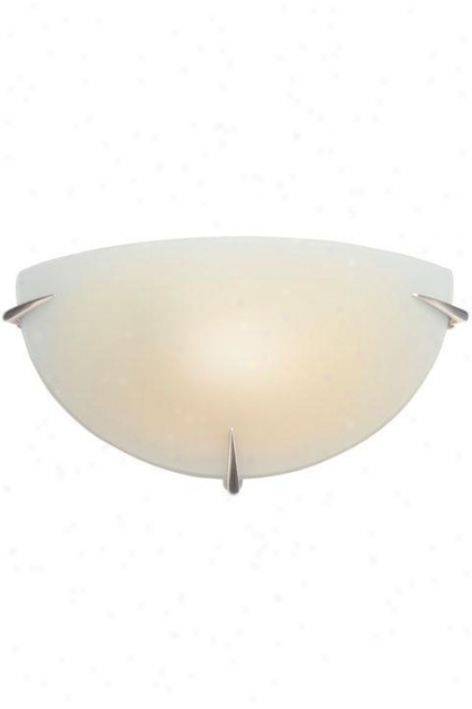 """wall Sfonce With Frosted Glass Shade - 7""""hx13""""w, Silver"""