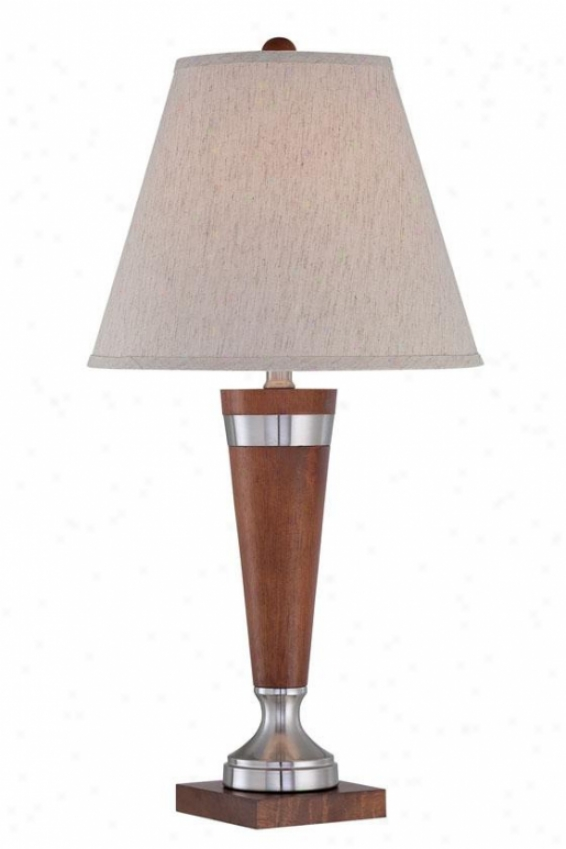 """warwick Index Lamp - 26""""h X 15""""w, Brown Wood"""