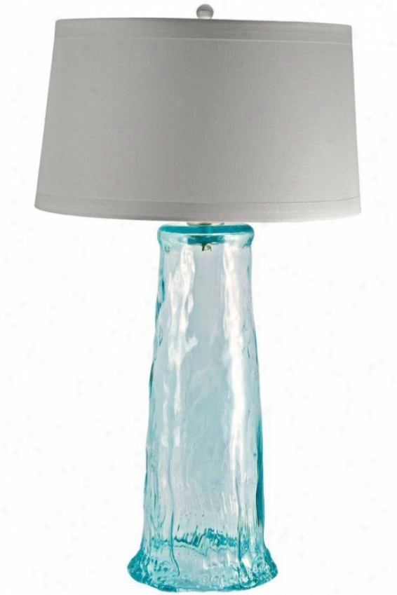 """waterfall 34""""h Table Lamp - 34""""hx20""""w, Blue"""